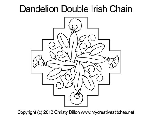 Dandelion double irish chain quilt pattern