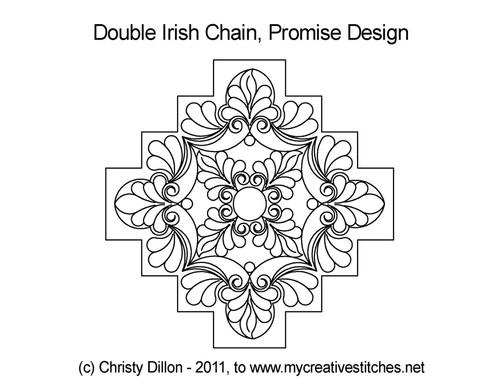 Promise double irish chain quilt pattern