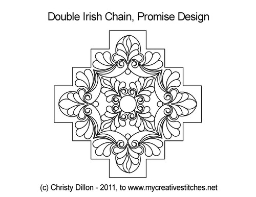 Promise double irish chain quilt pattern