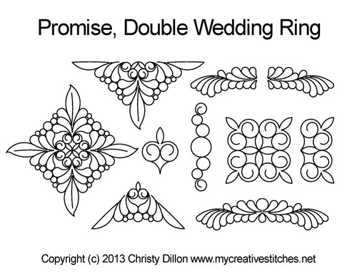 Promise double wedding ring quilt design