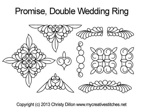 Promise Double Wedding Ring Set