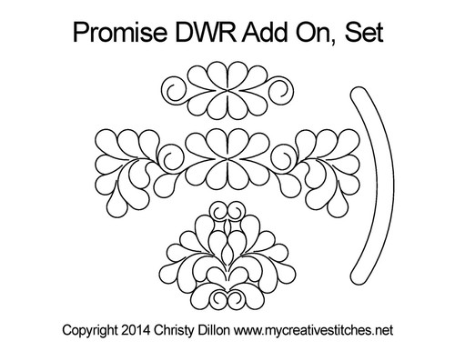Promise DWR add on quilt design set