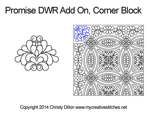 Promise DWR add on corner block quilting