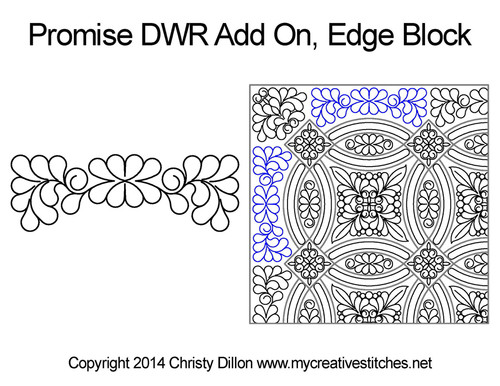 Promise DWR add on edge block quilt design
