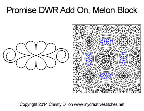 Promise DWR add on melon block quilting