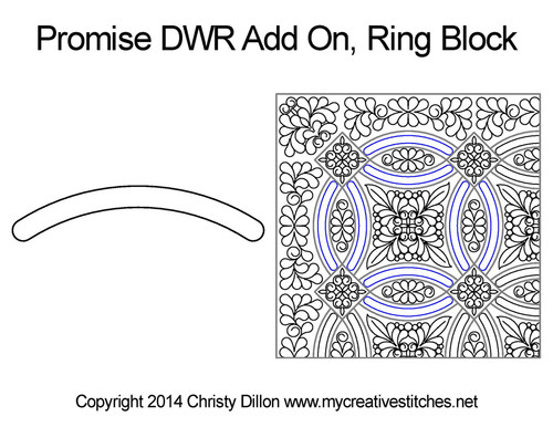 Promise DWR add on ring block quilt design