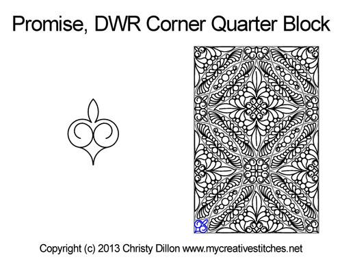 Promise DWR corner quarter block quilting