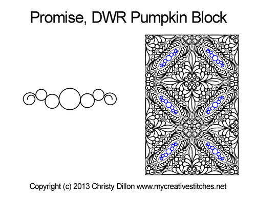 Promise DWR pumpkin quilting pattern for block