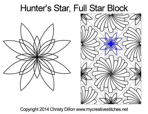 Hunter's Full quilt pattern for star blocks