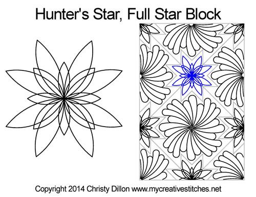 Hunter's Full quilt pattern for star blocks