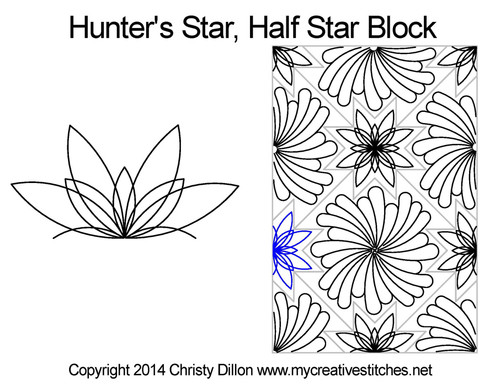 Hunter's star quilting design for star blocks