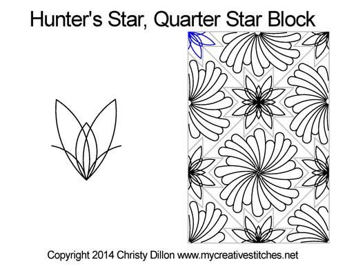 Naysa's feather quarter block quilt patterns