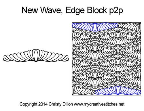 New wave edge block p2p quilt designs