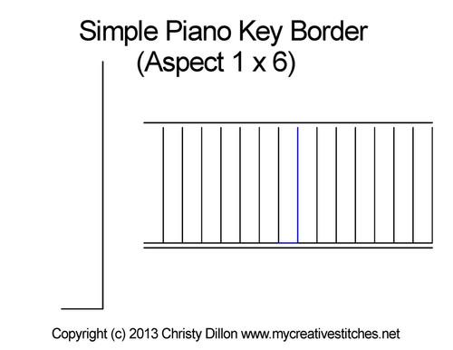 Simple piano key 1*6 border quilt design