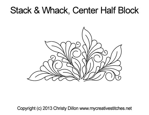 Stack & whack center half block quilt pattern