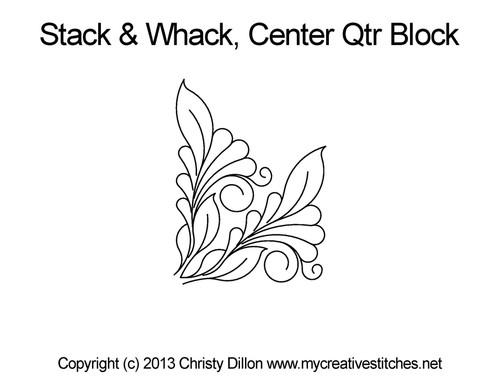 Stack & whack center quarter block quilt design