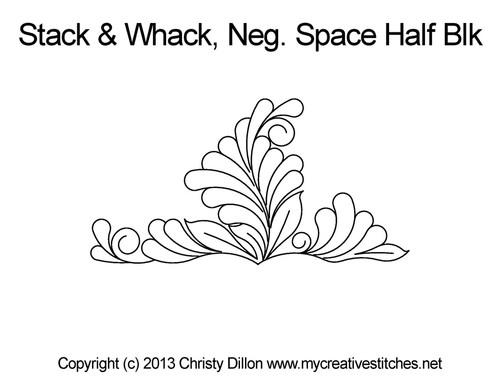 Stack & whack Neg space half block quilt ideas