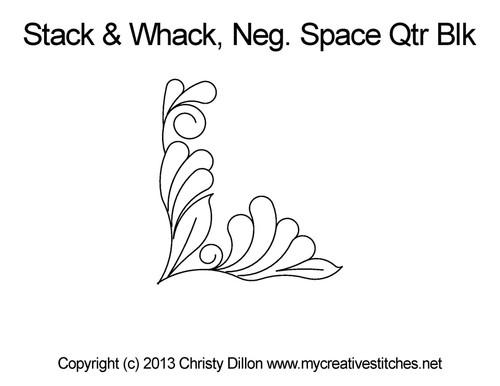 Stack & whack Neg. space quarter block quilting