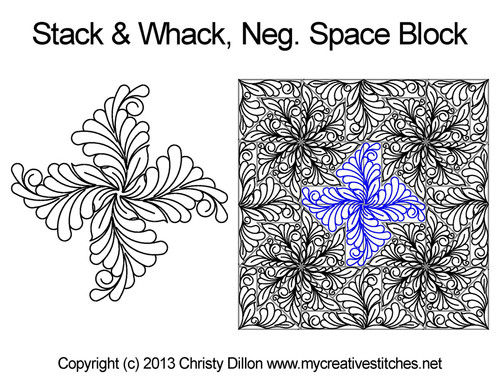 Stack And Whack Negative Space Block