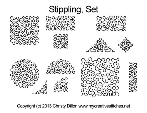 Stippling computerized quilting pattern