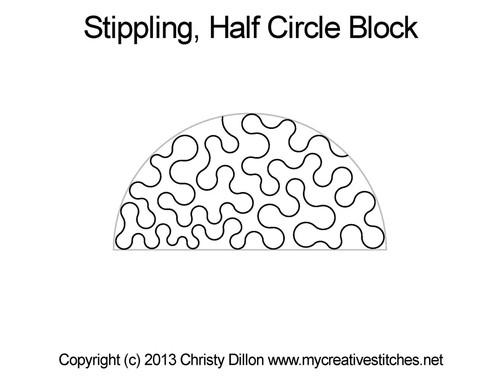 Stippling Circle Half Block