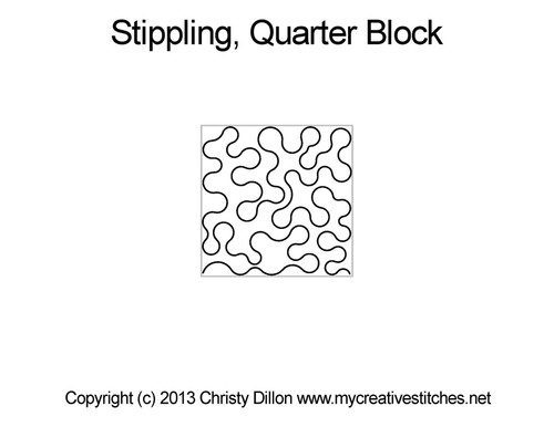 Stippling Square Quarter Block
