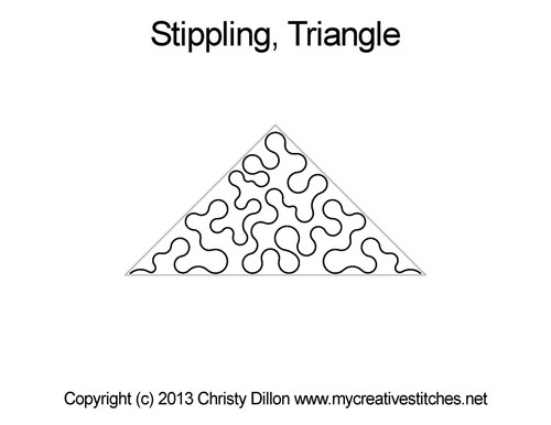 Stippling digitized triangle quilting pattern