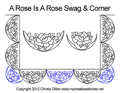 A rose is rose swag & corner quilt pattern
