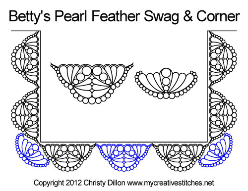 Betty's pearl feather swag & corner quilt pattern