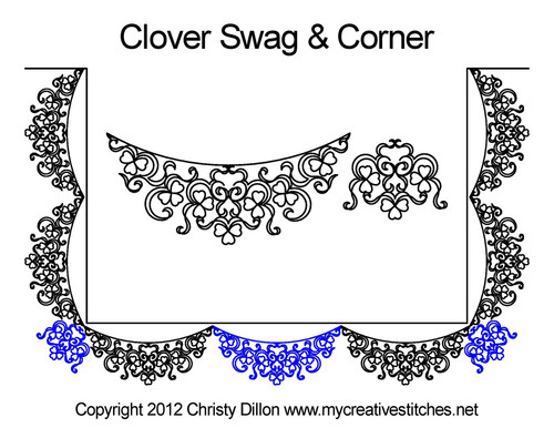 Clover swag and corner quilt design