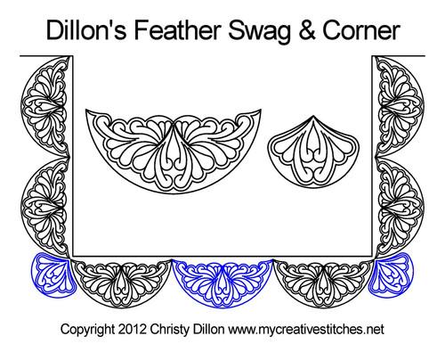 Dillon's feather swag & corner quilt design