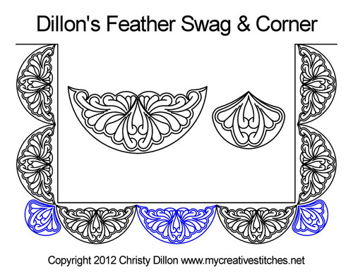 Dillon's feather swag & corner quilt design