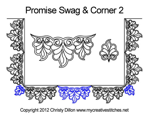 Promise swag & corner 2 quilting design