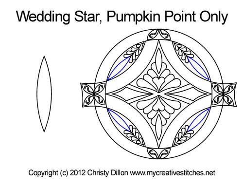 Wedding star pumpkin point quilt pattern