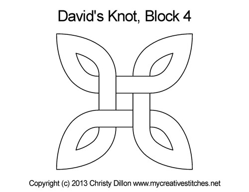 David's knot block 4 quilting designs