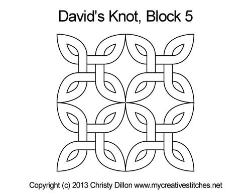 David's knot square block 5 quilting designs