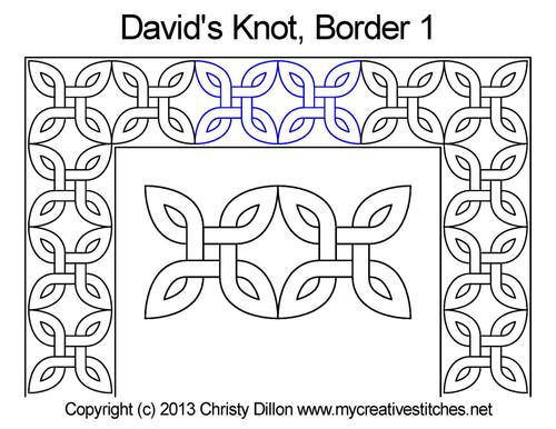 David's knot border 1 quilting design