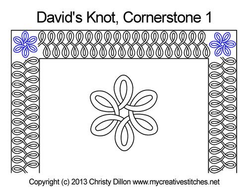 David's knot cornerstone 1 quilting designs
