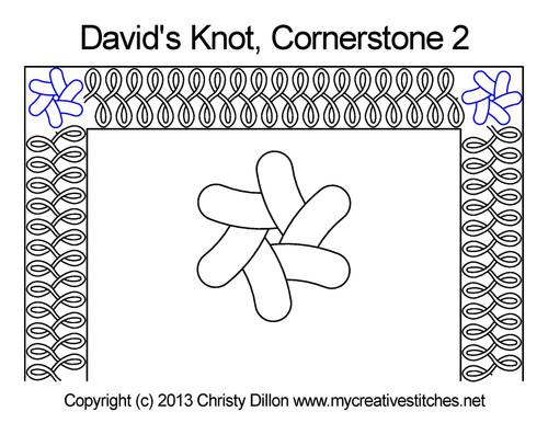 David's knot cornerstone 2 quilting designs