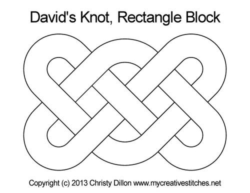 David's knot rectangle block quilt pattern