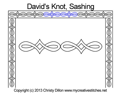 David's knot sashing quilting design