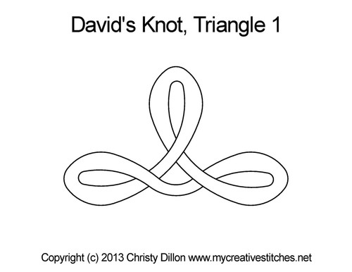 David's knot quilting pattern for triangle 1