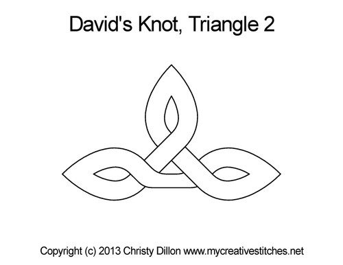 David's knot quilting pattern for triangle 2