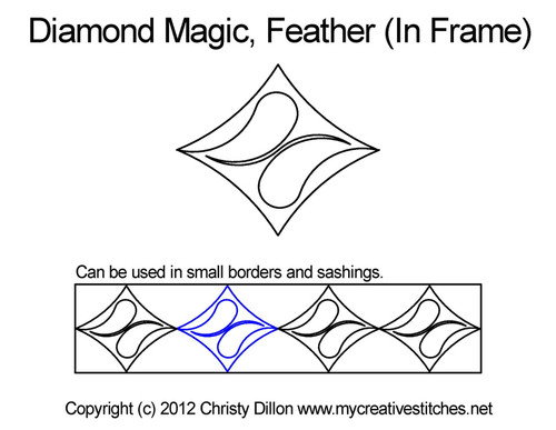 Diamond magic maze digital frame quilt design