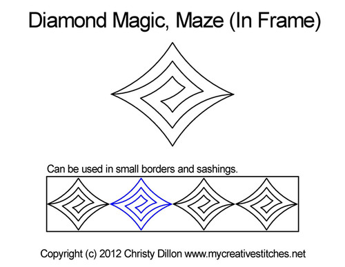 Diamond Magic Maze (In Frame)
