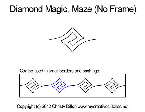 Diamond magic maze No Frame quilt ideas