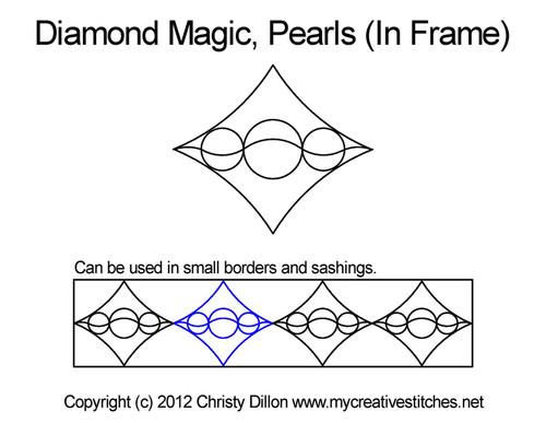 Diamond magic pearls In frame quilt design