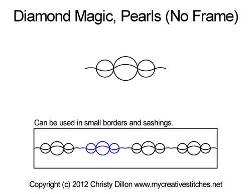 Diamond magic pearls no frame quilt pattern