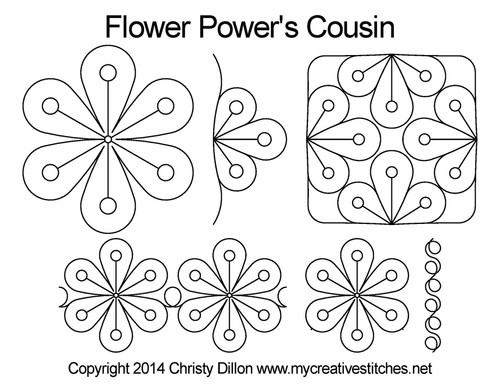Flower power's cousin quilting pattern