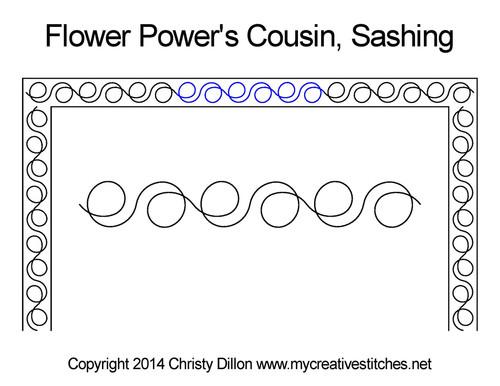 Flower power's cousin sashing quilt design